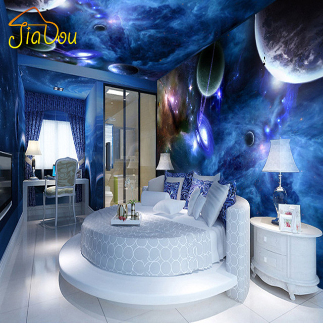 Custom 3d Stereo Wallpaper Living Room Bedroom Suspended