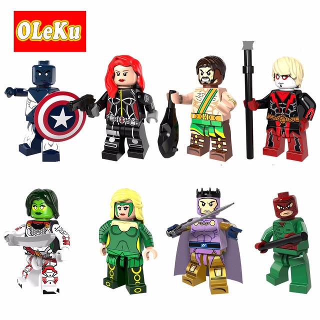 Figuras de Super Heróis lEgoing Vance Astro Viúva Heracles Adam Warlock Gamora Amora Wrecker Modelo Tijolos Blocos de Construção de Brinquedos
