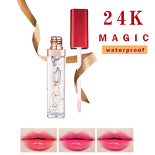COLOR CASTLE 24K Gold Lipgloss  New Changable Color Moisturizing Waterproof Protection Liquid Lipstick Magic Natural