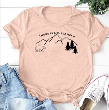 there is no planet tops plus size print women tshirt harajuku shirt casual o-neck gothic streetwear graphic summer pink