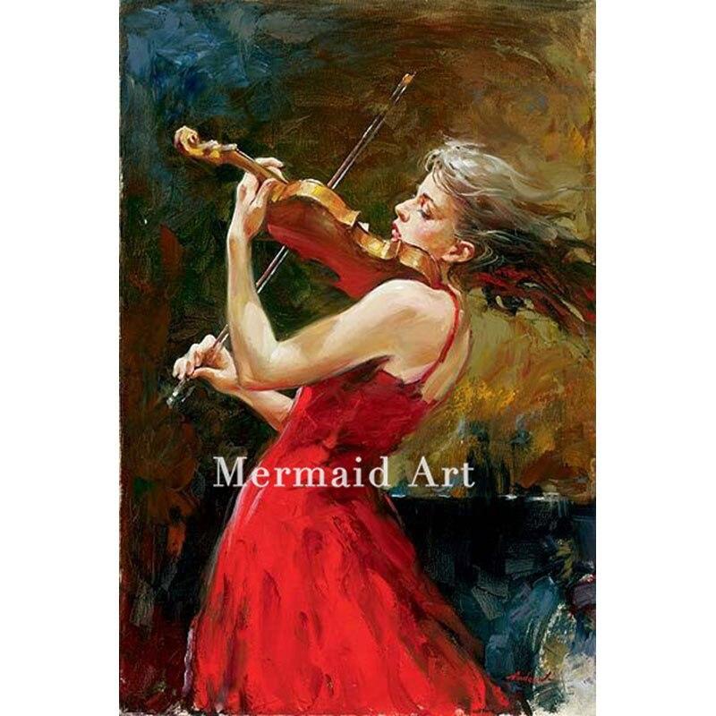 Ручная роспись живопись масляными красками, танец со