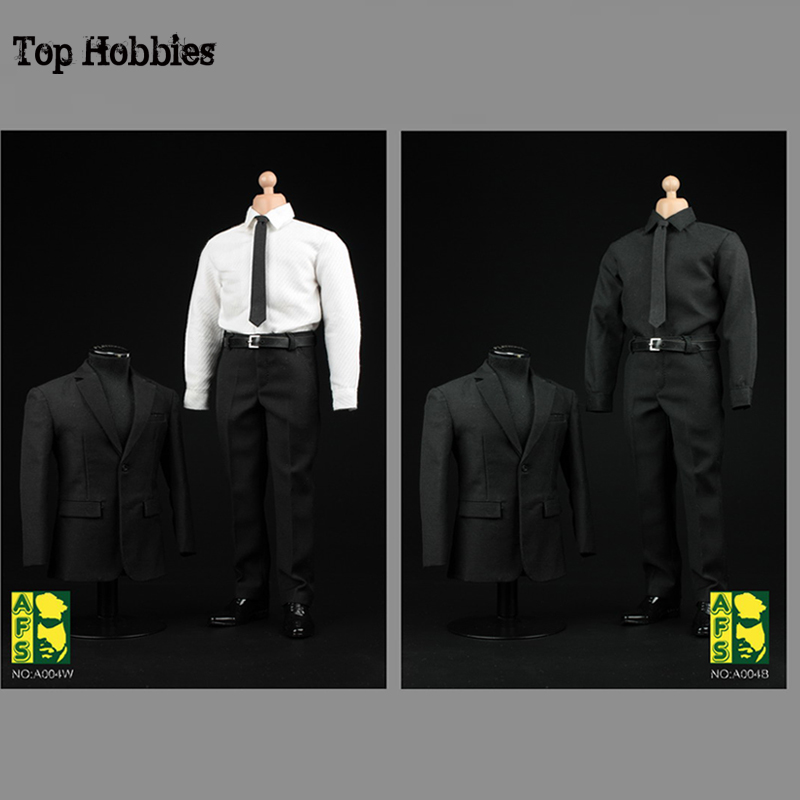 AFS A004 1 6 Scale Male Black Clothes Suit Suits For 12 Inch 1 6 Action