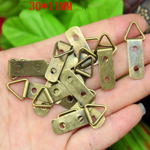 Hooks-Hangers Mirror Screws Hanging-Picture D-Ring Oil-Painting Frame with Bronze-Tone