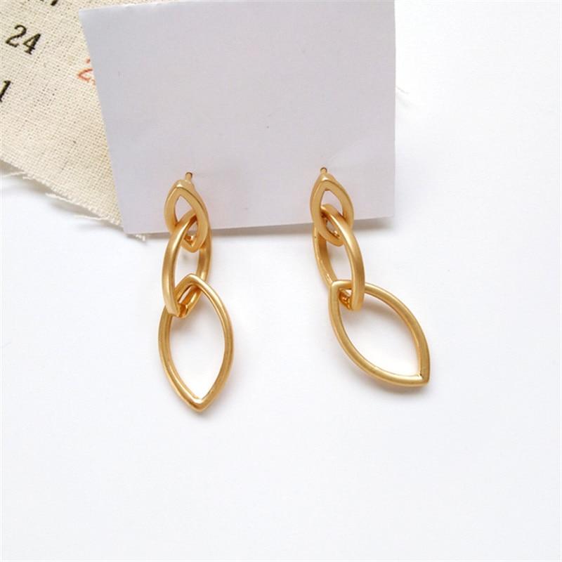 South Korean tide unique metal earrings, simple geometric shapes new beautiful ladies earrings female students
