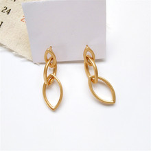 South Korean tide unique metal earrings, simple geometric shapes new beautiful ladies earrings female students