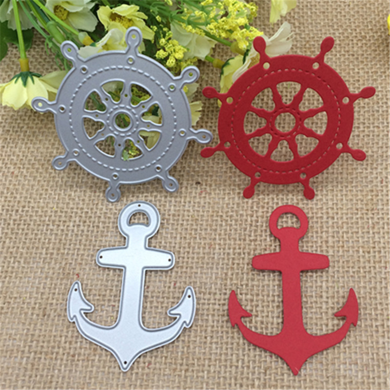 Sailing Anchor Ship Metal Cutting Dies Stencil Scrapbooking Photo Album Card Paper Embossing Craft DIY