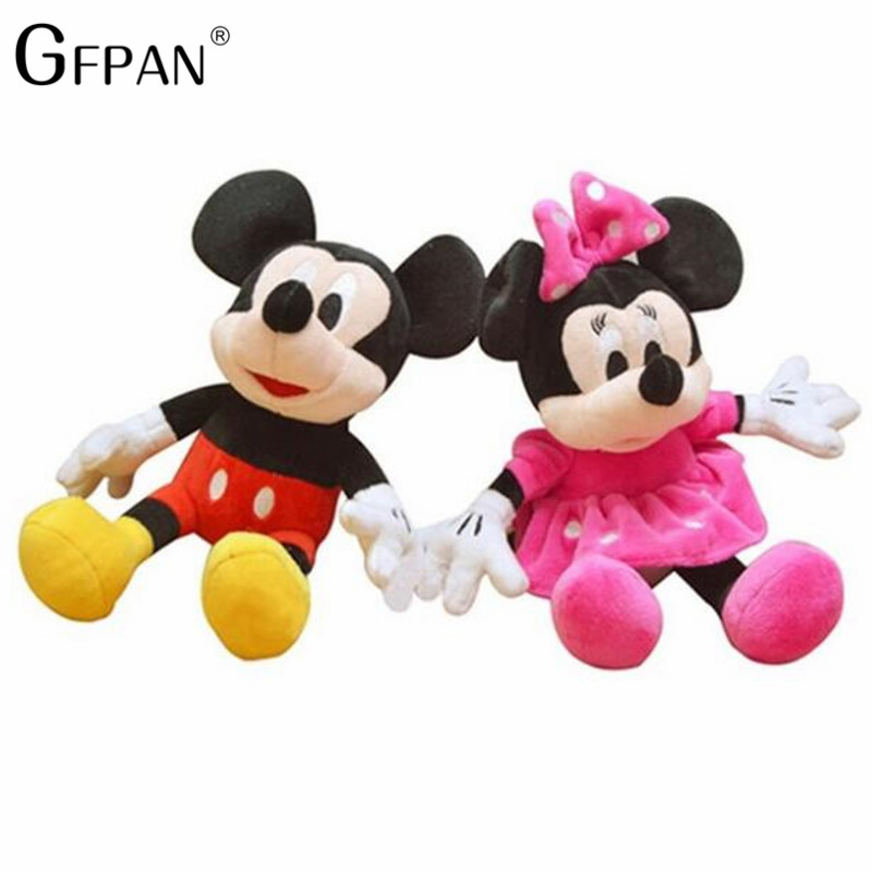 2pcs/lot 28cm Minnie&Mickey Mouse Super Quality Classical Plush Doll Stuffed Animals Plush Baby Kids Toys Best Gifts For Kids