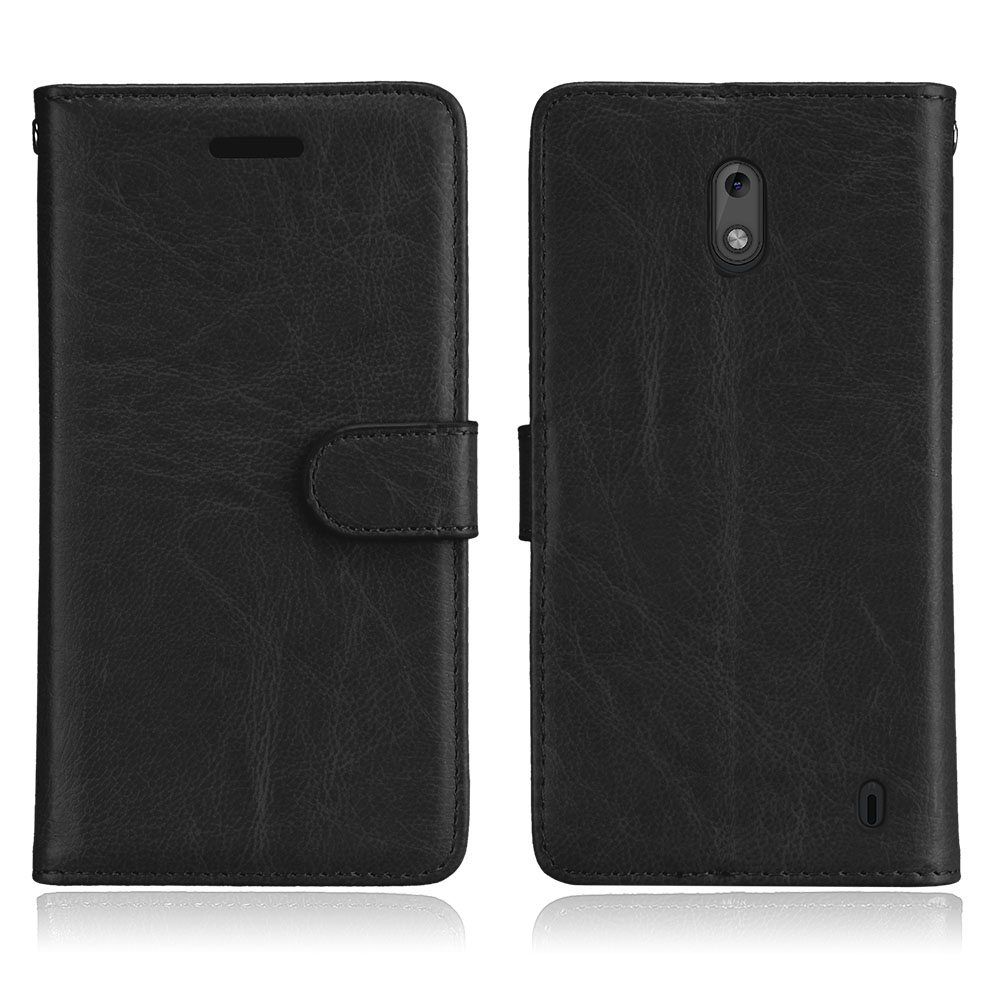 For Nokia 2 Case Cover Luxury Plain PU Leather Silicone Flip Phone Bag for Nokia 2 Case Wallet Stand Hold 5.0 for Nokia2 Coque
