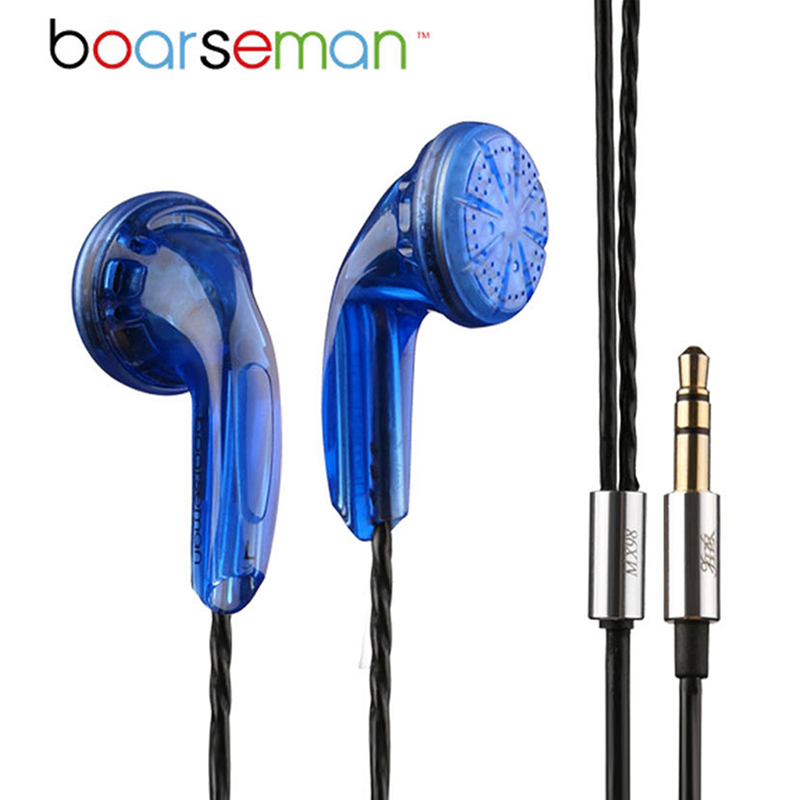 Original Boarseman Mx98 3.5mm Earphone DIY Fever HIFI Bass Headset Dynamic Earbuds for iphone 6s xiaomi mi mp3 sports earphones high quality pu cover a5 notebook journal buckle loose leaf planner diary business buckle notebook business office school gift