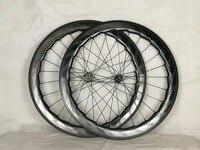 Колеса углерода ямочка довод колеса велосипеда колесной 700C дорожный велосипед 58 мм NSW 454 ямочка шедевр тормоз