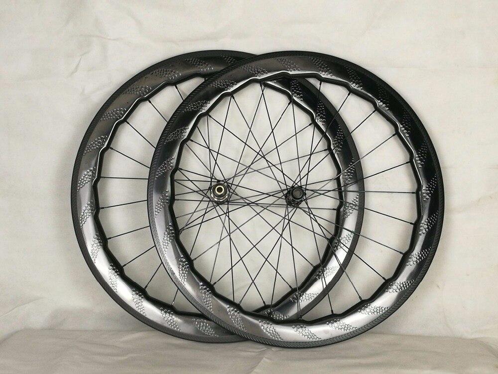 carbon road wheels dimple clincher wheel bicycle wheelset 700C Road bike 58mm NSW 454 dimple road wheels 20 24H road 454 rims цены
