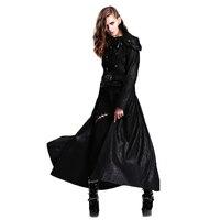 Осенне зимняя куртка в готическом стиле, женские съемные длинные пальто, женская облегающая одежда с длинными рукавами, черные куртки, ветр
