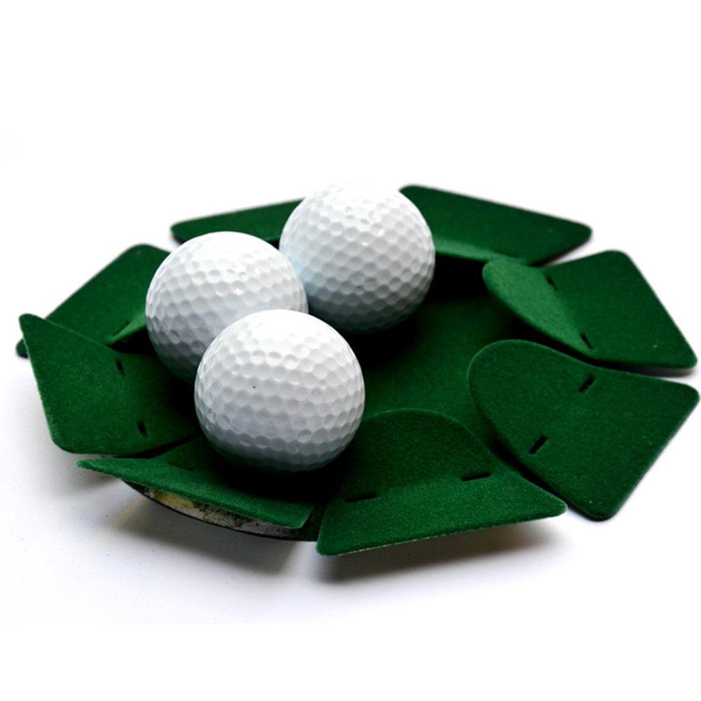 Sturdy Metal Putting Cup Golf Putting Cup Green Flock Covered For Home Or Office Use