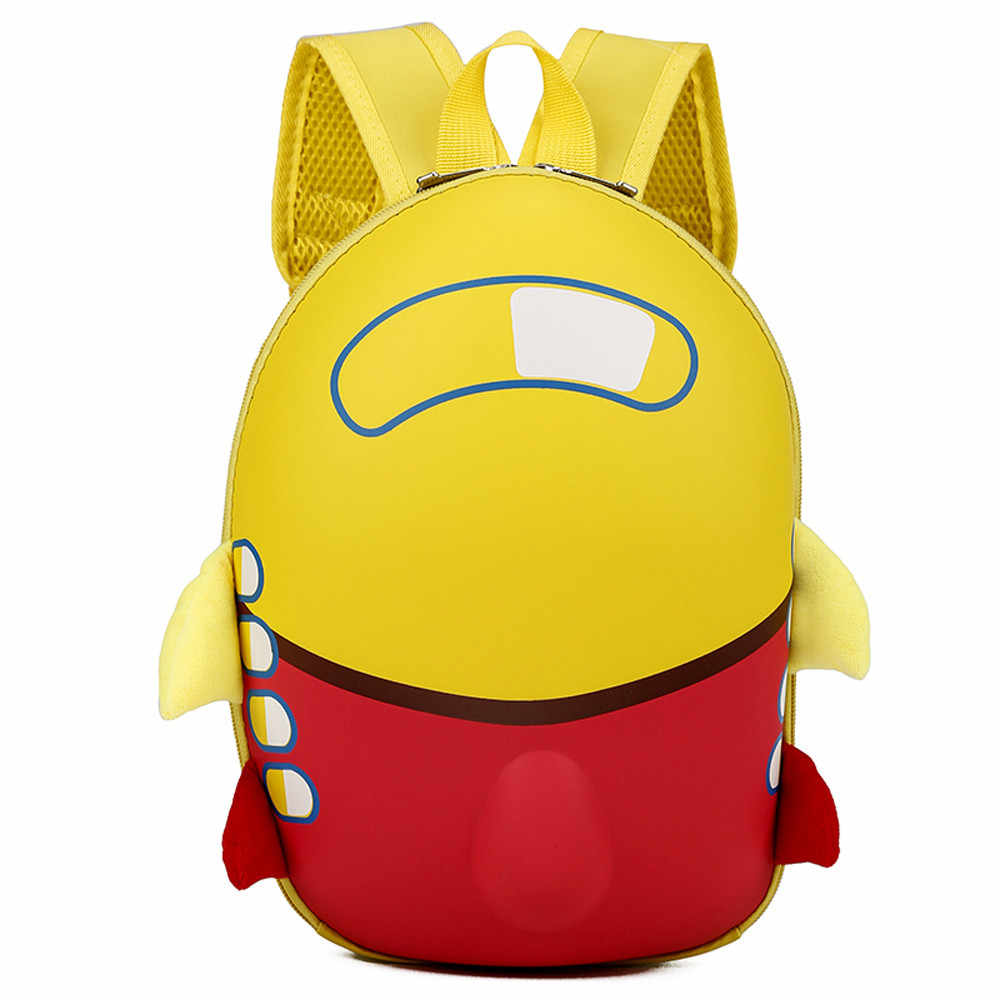 Детские хиинст самолет жесткий корпус плюшевые рюкзаки Девочки Мальчики Дети милый мультфильм рюкзак в форме яйца малыш школьная сумка Прямая поставка CC #