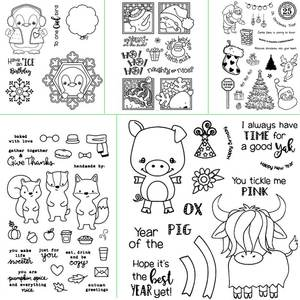 ZhuoAng Cute animal design transparent seal scraping rubber stamp seal paper process clear seal card production