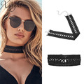 2016 Sexy Elegant Black Hollow Lace Tattoo Chokers Necklaces Women Retro Gothic Statement Chocker Necklace Collares Mujer F6127