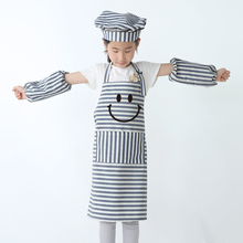 Apron Kids Children Eating Clothes Front Pocket Bib Kitchen Cooking Craft Baking Art Painting apron print logo