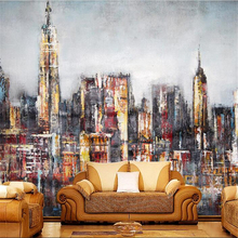 City Murals Paintable Wallpaper Hand Painted Oil Buy Modern Living Room  Sitting Room