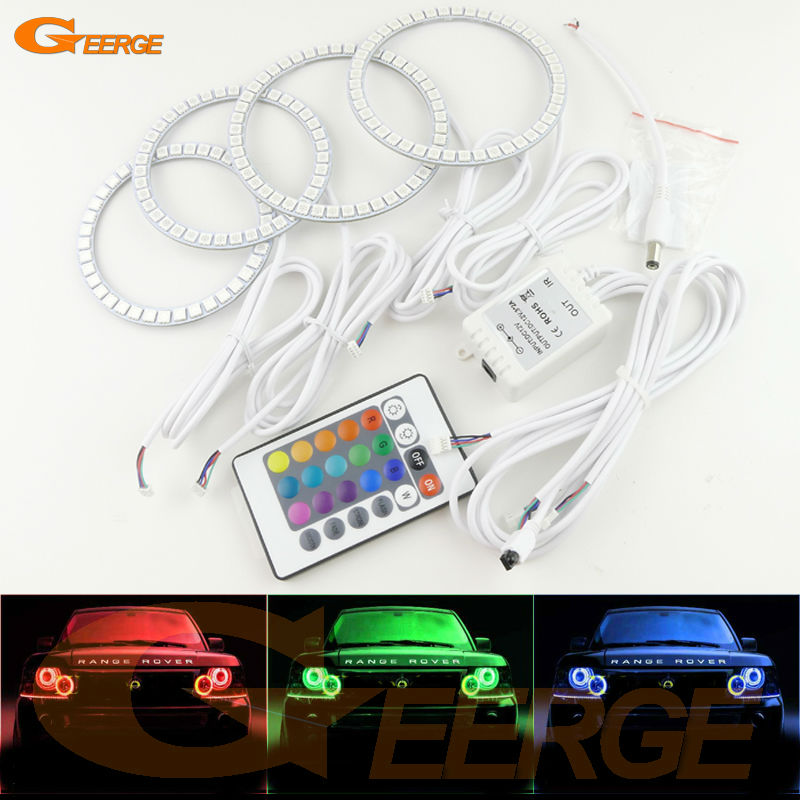 For Land Rover Range Rover L322 2006 2007 2008 2009 XENON HEADLIGHT Excellent Multi-Color Ultra bright RGB LED Angel Eyes kit for land rover freelander lr2 2007 2008 2009 2010 xenon headlight excellent ultra bright illumination smd led angel eyes kit