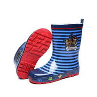 Maggie's Walker niños perro de dibujos animados lluvia Botas Boy Rubber Zapatos antideslizante impermeable sobre Zapatos para estudiantes Niño agua Zapatos