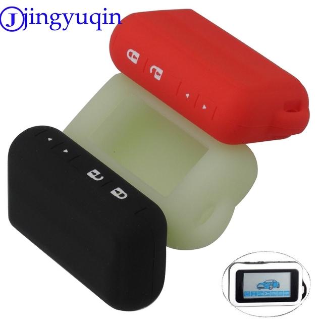jingyuqin Two Way Car Alarm Silicone Cover Case For Starline E90/E60/E62 Russian LCD Remote Controller Only cover