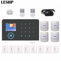 Intelligent WIFI Home Security Burglar Alarm GSM Alarm System Android For IOS APP Control Voice Prompt RFID Alarm Set