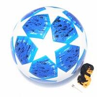 2018 2019 finals Soccer Ball Group Match Blue Madrid Final football ball PU high grade seamless paste skin