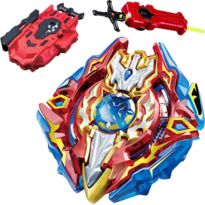 Sieg Xcalibur Xcalius Excalibur Spinning Top Burst STARTER w/ Launcher B-92 + LR RED Launcher and Sword Launcher(China)