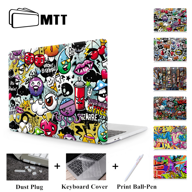 "MTT Graffiti Print Case For Macbook Air Pro Retina 11 12 13 15 inch With Touch Bar Laptop Bag Sleeve For macbook Air 13.3"" Cover-in Laptop Bags & Cases from Computer & Office"