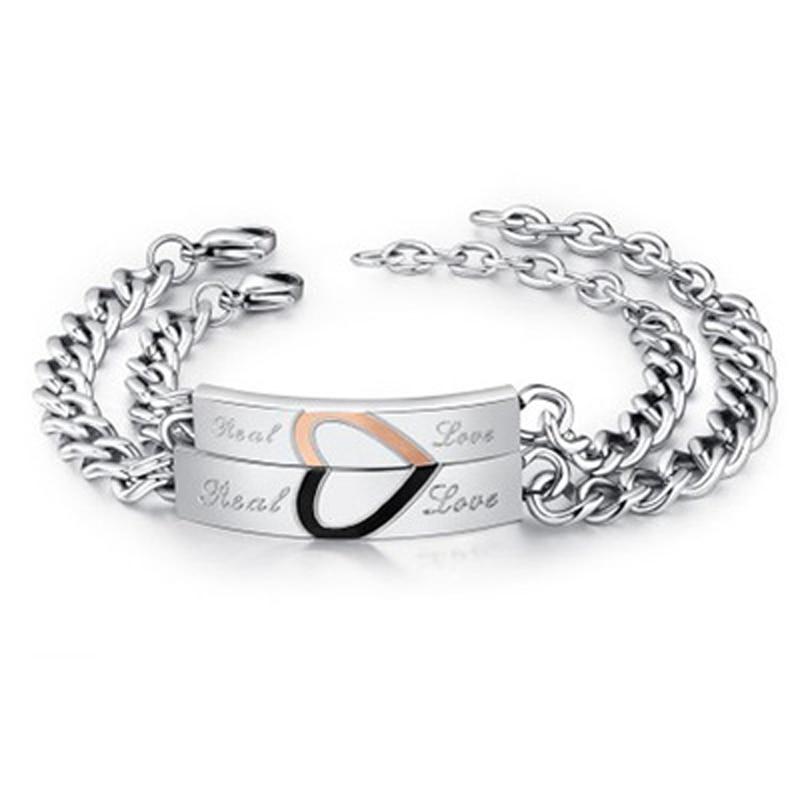 NIBA pulseras de pareja de amor Real joyería de acero inoxidable encantos amantes regalo medio corazón rompecabezas pulsera joyería de boda Relojes de cuarzo para parejas y amantes de la marca superior de CHENXI para hombre, relojes de regalo de San Valentín para mujer, relojes de pulsera impermeables de 30m para mujer