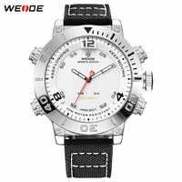 Top Luxury Brand WEIDE Men Nylon Band Watches Men's Digital Quartz Analog LED Man Fashion Sport Military Wrist Watches Relogios