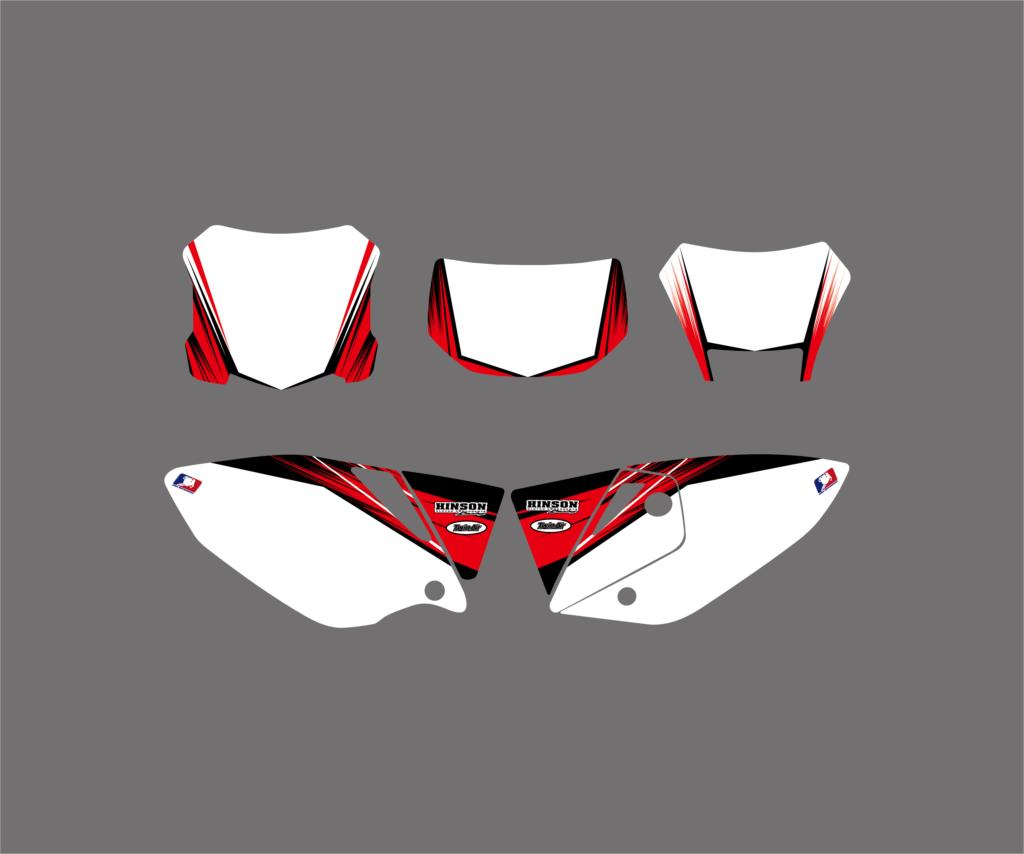 New Style Red TEAM GRAPHICS & BACKGROUNDS DECAL STICKER Kit For Honda CRF450X 4 STROKES 2005 2017 2018 CRF 450X 450 X-in Decals & Stickers from Automobiles & Motorcycles    3