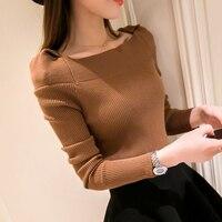 Hitz 2017 Korean Slim Slim Shirt Collar Sweater Hedging All Match Autumn Sweater Girl