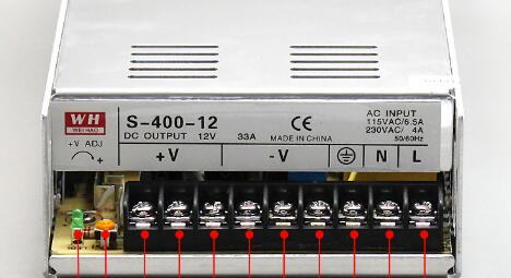 import material 400W switching power supply 12V33A monitoring camera power supply LED lamp with power source S 400 12