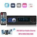 Встроенный Bluetooth + Микрофон Автомобилей В Тире Стерео Аудио USB FM, Aux Вход Приемника MP3 Радио 1 DIN
