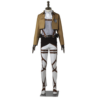 Attack on Titan Cosplay Costume Levi Rivaille Rival Ackerman Cosplay Anime Shingeki no Kyojin Survey Corps Costume For Halloween