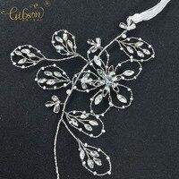 Wedding Hair Vine Dazzling Headband Crystal Flower Women Headpiece White K Color Hair Band Bridal Headwear