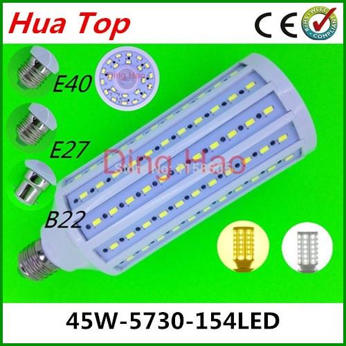 Lampada Corn bulb Lamp E27 E40 B22 45W 5730 epistar Smd 154 led Motion sensor lamps 110V/220V Body sensors Led White/Warm White