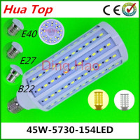 Lampada Corn bulb Lamp E27 E40 B22 45W 5730 epistar Smd 154 led Motion sensor lamps 110V/220V Body sensors Led White/Warm White