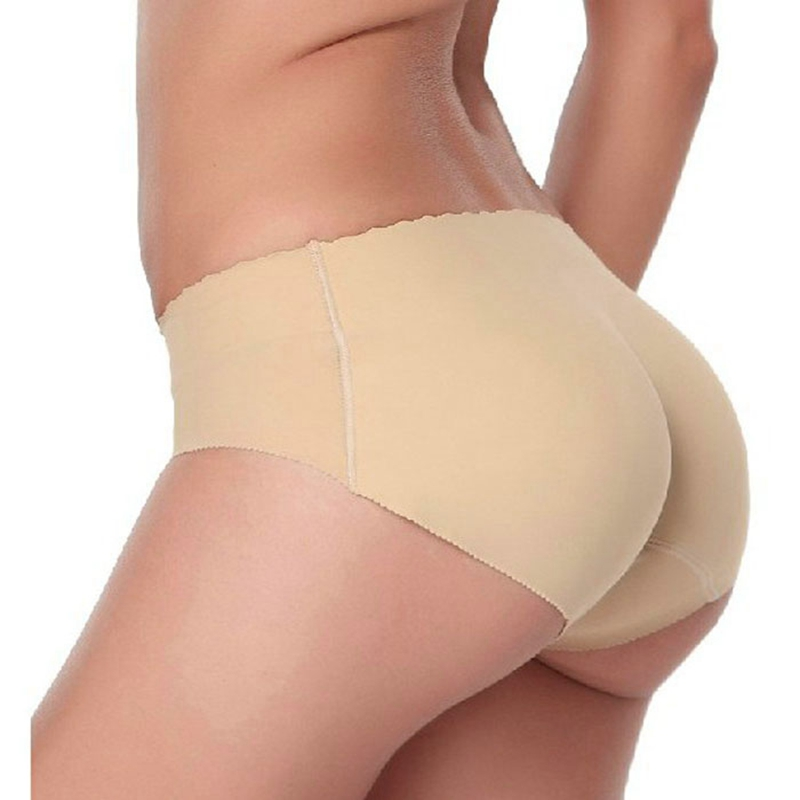 Underwear women Seamless Sexy lingerie Underwears Panties Briefs hip butt pads pantalones mujer silicone hip padded panty C0