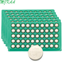 MJKAA Hot Sale 300pcs LR44 357A A76 303 AG13 SR44SW SP76 L1154 RW82 RW42 Alkaline Button Cell Battery Long Lasting