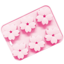6 even cherry snowflake silicone donut mold high temperature resistant release jelly handmade soap