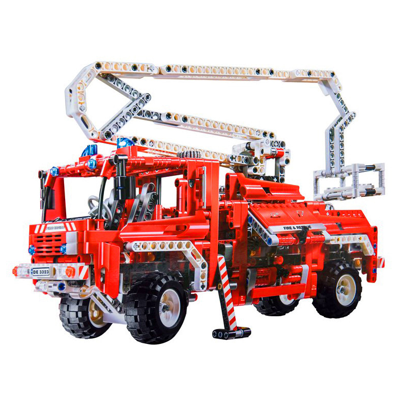 все цены на Pandadomik Large 1036pcs Fire Engine Truck Building Toy Bricks Car Model Blocks legoinglys Technic Educational Toys for Children