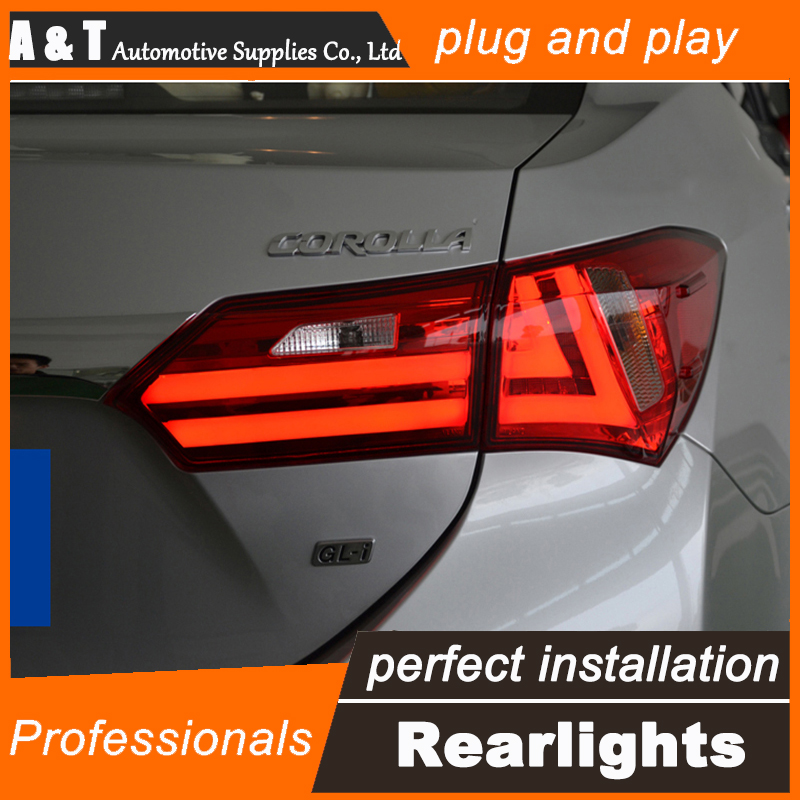 A&T Car Styling for Toyota Corolla Taillights 2014 New Corolla LED Tail Light Altis Rear Lamp DRL+Brake+Park+Signal union car styling for 2014 corolla taillights new corolla altis led tail lamp altis rear lamp drl brake park signal led light