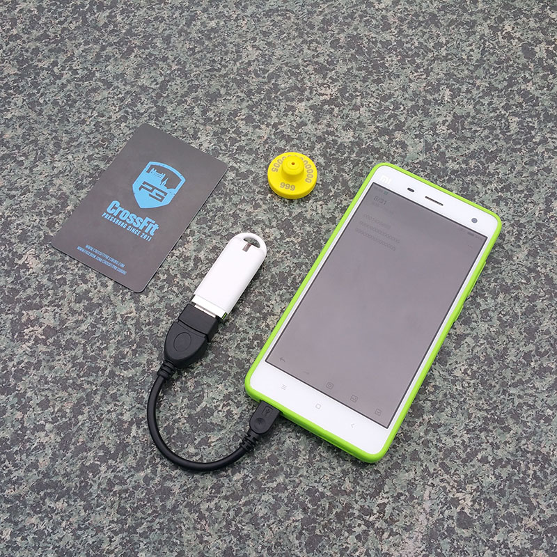 125Khz 134.2KHz ISO11784/85 FDX-B EMID USB/OTG Reader+ animal tag Support Pc Android System iso11784 5 fdx b em4305 long range 134 2khz rfid animal ear tag for cow sheep management