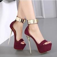 New Fashion Women Pumps Sexy Peep Toe Thin High Heels Shoes Woman Pumps Plus US Size 3 9
