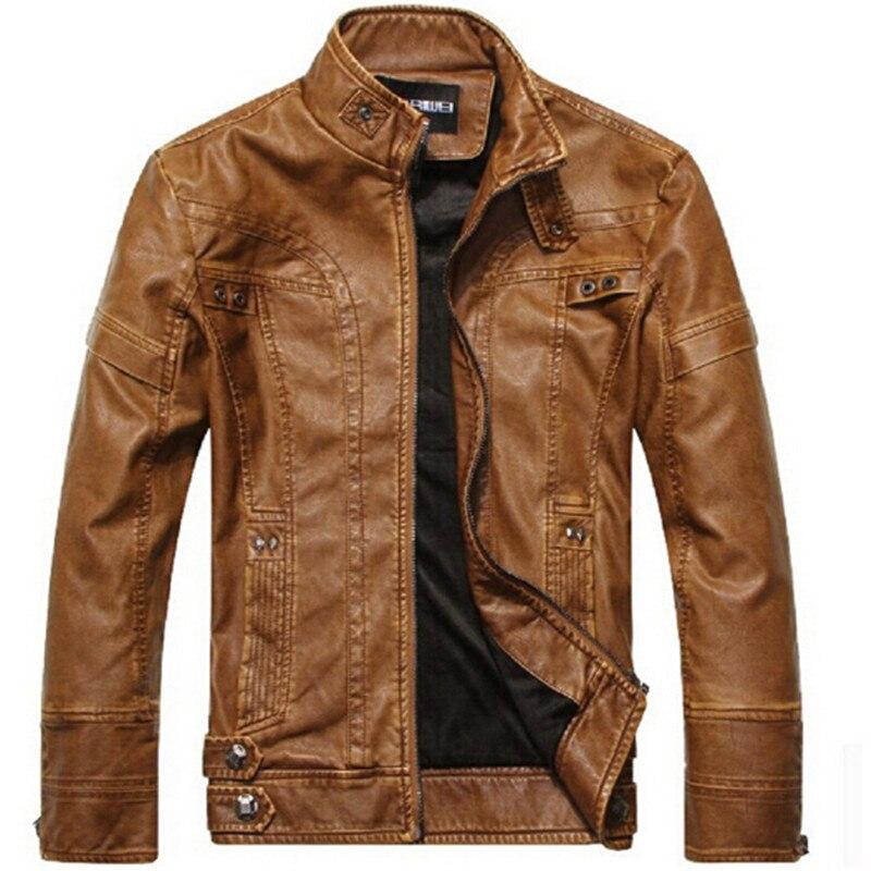 2017 Hiver Brown Décontractée Hommes Manteaux Marque black En Automne Vestes Moto yellow Vêtements D'affaires Mâle Cuir rqpYHrA