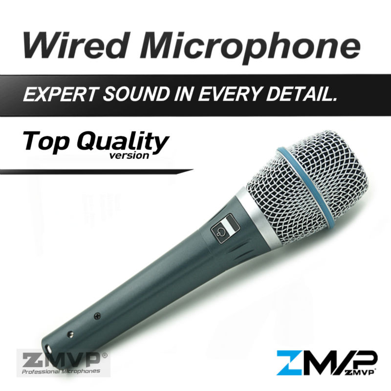 ZMVP Top Quality Version B 87A Professional Super-cardioid 87A Vocals Studio Karaoke Condenser Microphone with Real Condenser heat live broadcast sound card professional bm 700 condenser mic with webcam package karaoke microphone