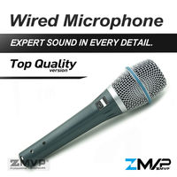 ZMVP Top Quality Version B 87A Professional Super cardioid 87A Vocals Studio Karaoke Condenser Microphone with Real Condenser