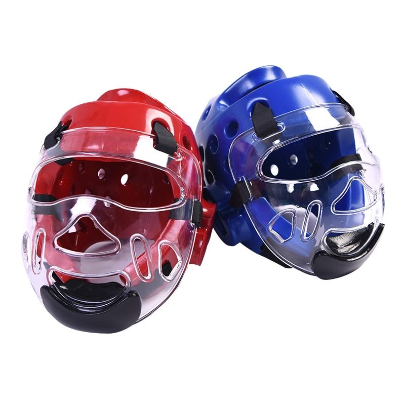 Taekwondo Headgear Karate Martial Arts Sparring Helmet Adult Head Guard DIY Blue Red S M L